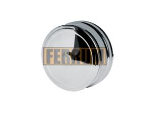 Заглушка внешняя д/трубы, 430/0,5 мм, Ф120, нижняя Ferrum