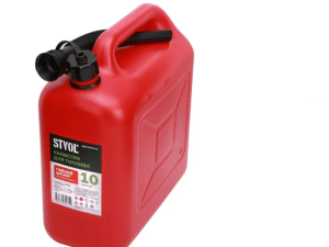 Канистра для ГСМ пластиковая, красная  10л Stvol SKP10