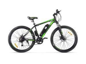 Электровелосипед (велогибрид) черно-зеленый Eltreco XT 600 D